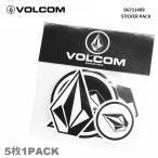 VOLCOM ボルコム STICKER PACK ステッカーパック D6711499 BWH ステッカー 5枚入り シール 日本正規品