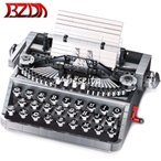 ブロック おもちゃ タイプライター ライティング キーボードタイプモックセット