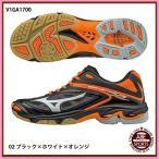 【ミズノ】ウエーブライトニング Z3  バレーシューズ (V1GA1700)  02 ブラック×ホワイト×オレンジ