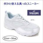 スニーカー 通学 運動靴 作業靴 ホワイト 白 スポルディング SPALDING akjin239