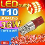 送料無料 36W T10/T16 LEDバルブ レッド1個 爆光ポジション球 T10/T16 LEDバルブ 高輝度ポジション球 T10/T16 LED 明るいT10/T16 LED as10355