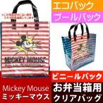 スケーター クリア 手提げバッグ ランチバック ミッキーマウス ディズニー KBV1