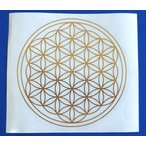 フラワーオブライフ112mmシール 1枚 神聖幾何学図形 ステッカー folst006
