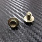 チタン フロントナンバープレート固定フランジボルト 2個 フランジ径13mm
