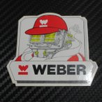 ウェーバー WEBER ステッカーキャブレター帽子とマフラー着装