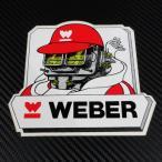 ウェーバー WEBER ステッカー大サイズ キャブレター帽子とマフラー着装