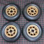 ミニライト MINILITE マグネシウムホイール ゴールド & DUNLOP FORMULA-R タイヤ4本セット / MINI
