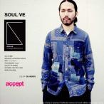 ショッピングSHIRTS SOULIVE ソールライブ BANDANA JACQUARD SHIRTS パッチワークシャツ メンズ 日本製