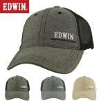 (エドウィン)EDWIN メンズ コットン 杢調 フロント サイド ロゴ 刺繍 スポーツ メッシュ キャップ EW9J008