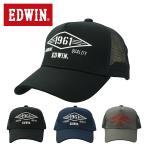 エドウィン EDWIN 男女兼用 帽子 ラバー ロゴ コットンツイル メッシュ スポーツ キャップ 251E05-C