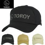 (トロイ)TOROY メンズ コットン ピケ ロゴ刺繍 スポーツ キャップ 帽子 TR9J002