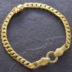 喜平 ブレスレット 24金 メンズ K24 ゴールド ダイヤモンド 23g 21cm 5mm幅 蛇 スネーク キヘイ チェーン 日本製 刻印入り 長さ指定可能