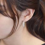 プラチナ ダイヤモンド エタニティ フープピアス 1カラット 中折れ式 刻印入り 日本製