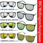 AC207ウェリントン型ミラーサングラス今年ファッション誌激押し大流行のミラーレンズタイプオールドスクールなウェイファーラー風デザインデカサングラス スクエ