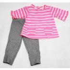 (リボンなし)カーターズ Carter's ベビー服 子供服 七分袖 チュニック レギンス 2点 セット 女の子 ネオンピンク (クロネコDM便可) 入園入学 新生児 乳幼児 服