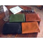 クリーム進呈/ CLEDRAN クレドラン 財布 レザー 折り財布 CL2087 FINI キャメル/ブラウン/グリーン/ブラック