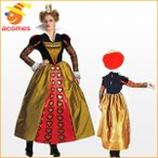 ハロウィン ハートの女王 赤の女王 コスチューム コスプレ ドレス ディズニー アリスインワンダーランド キャラクター 衣装 大人 女性 不思議の国のアリス
