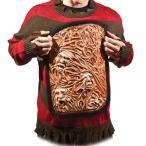エルム街の悪夢 フレディ コスチューム 大人 コスプレ ハロウィン ホラー 胸元で魂が動く セーター