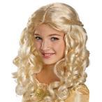 ハロウィンマレフィセントコスチューム仮装ディズニーウィッグ眠れる森の美女グッズプリンセスオーロラ姫かつら子供用ウィッグ