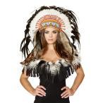 インディアン ヘッドドレス ヘッドピース 羽 ハロウィン コスプレ グッズ アクセサリー 羽飾り ネイティブアメリカン ポカホンタス
