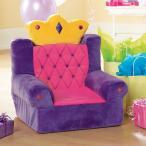 ショッピングプリンセス プリンセスの椅子 パープル 紫 ソファ 子供用 インテリア 家具 ファーニチャー