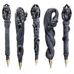 文具ペンガーゴイルとドラゴンのペン5本セット守護神魔除け彫像ハロウィンデコレーション装飾飾りグッズ