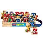 アルファベットの木製マグネットのセット26ピース 26文字 キャリーケース付き T.S.Shure社製 知育玩具 プレイセット おもちゃ