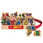 数字1から20の木製マグネットのセット 20ピース キャリーケース付き T.S.Shure社製 知育玩具 プレイセット おもちゃ