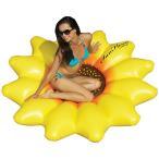 プール 家庭用 ひまわり 大きい浮き輪 フロート 水遊び 大人も楽しめる ジャンボサイズ ビーチ うきわ 183cm インスタ映え ナイトプール 海水浴 グッズ