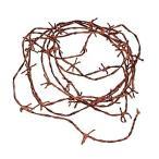 ハロウィン グッズ 装飾品 飾り お化け屋敷 錆 さびている 有刺鉄線