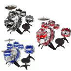ドラムセット ドラムキット 子供 11ピース 楽器 パーカッション 打楽器 音楽 ロック おもちゃ 知育玩具 クリスマス プレゼント ギフト