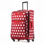 アメリカンツーリスター 機内持ち込み不可 71cm スーツケース キャリーバッグ キャリーケース ディズニー ミニーマウス 赤 水玉