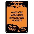 ハロウィン 飾り 反射 アルミ 看板 サイン デコレーション コウモリ かぼちゃ トリック オア トリート イベント パーティー