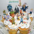 カップケーキ トッパー ケーキピック 飾り ズートピア セット ディズニー 手作り デコレーション