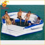 10人用 大型 おもしろい 浮き輪 うきわ 複数 家族 友達 グループ ペア 大きい ボート フロート パーティ グッズ マリブラウンジ 面白い浮き輪