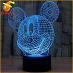 ショッピングミッキー ミッキーマウス ライト 照明 タッチセンサー 3D 立体 イリュージョン ディズニー キャラクター グッズ インテリア 雑貨