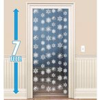 クリスマス デコレーション グッズ 天井飾り 雪模様 雪の結晶 白 くるくる スワール 213cm 6本セット