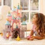ディズニープリンセス シンデレラ オーロラ姫 フィギュア 人形 おもちゃ 眠れる森の美女の城 プレイセット インテリア 置き物 海外版