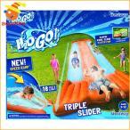 プール 家庭用 水遊び 子供 トリプル ウォーター スライダー 夏 水浴び 外遊び 大型 遊具