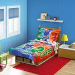 しゅつどう!パジャマスク ベッドシーツ セット トドラー 幼児 寝具 インテリア 子供部屋 デコレーション ディズニーチャンネル キャラクター グッズ