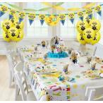 ミニオン グッズ 誕生日 パーティセット お祝い デコレーション 風船 バルーン 装飾 飾り ピクニック 行楽 行事 食器 プレート 紙コップ 8人用