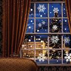 クリスマス 雪景色 ステッカー シール 121パーツ デコレーション 飾り 装飾 インテリア