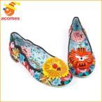 ふしぎの国のアリス フラワー フラット シューズ 靴 イレギュラー チョイス コラボ IRREGULAR CHOICE
