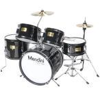 ドラムセット 子供用 黒 身長76〜152cm Mendini by Cecilio