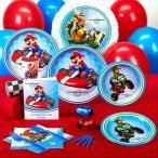 スーパーマリオ マリオカート お祝い パーティー セット ポットラック 紙 プラスチック コップ 皿 使い捨て 食器 8人用