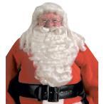 ハロウィン クリスマス パーティー グッズ サンタクロースのウィッグとひげ