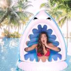 シャーク サメ 浮き輪 ビーチ プール 水遊び 遊具 浮輪 フロート プール 海 インスタ映え ギャグ おもしろ