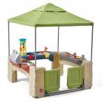 プール 家庭用 水遊び 砂遊び 大型 遊具 ステップ2 キャノピー付き オールラウンド プレイタイム パティオ 子供 野外 屋外 家庭 車いす