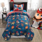 スーパーマリオ グッズ 布団 セット シングル サイズ 子供 寝具 マリオ&キャッピー