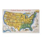 地図 パズル 木製 アメリカ メリッサ&ダグ 45ピース 知育 英語 おもちゃ